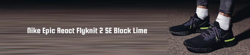 Nike Epic React Flyknit 2 SE Black Lime