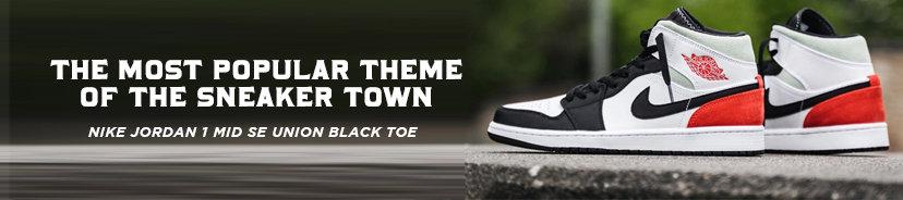 Nike Jordan 1 Mid SE Union Black Toe