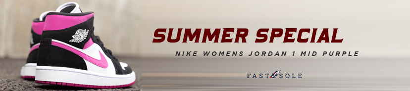 Nike Womens Jordan 1 Mid Purple
