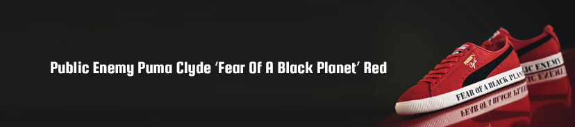 Public Enemy Puma Clyde Fear Of A Black Planet Red