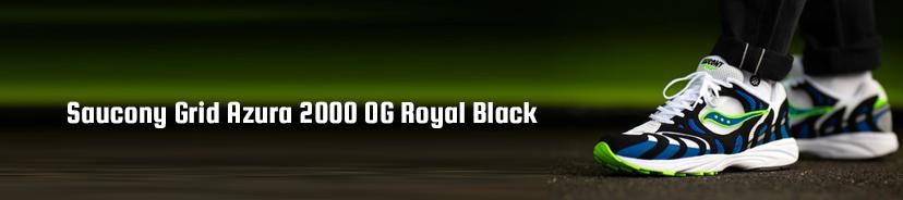 Saucony Grid Azura 2000 OG Royal Black