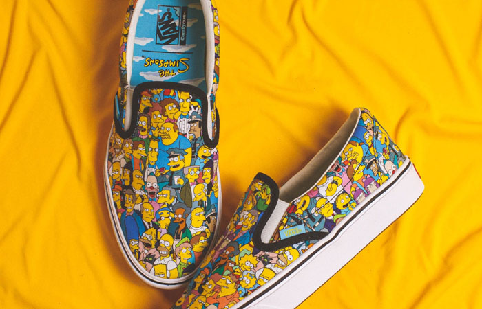 Simpsons Vans Pack Comfycush Slip-On White Multi VN0A3WMD1TJ 03
