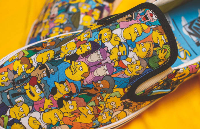 Simpsons Vans Pack Comfycush Slip-On White Multi VN0A3WMD1TJ 04