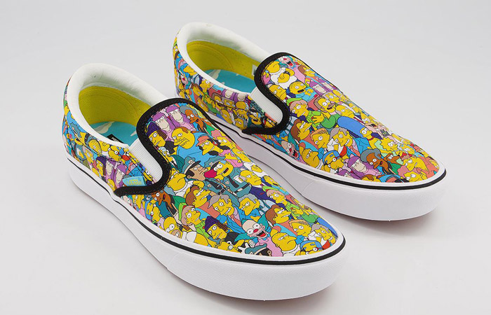 Simpsons Vans Pack Comfycush Slip-On White Multi VN0A3WMD1TJ 05