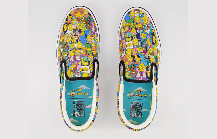 Simpsons Vans Pack Comfycush Slip-On White Multi VN0A3WMD1TJ 06