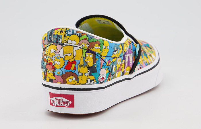 Simpsons Vans Pack Comfycush Slip-On White Multi VN0A3WMD1TJ 07