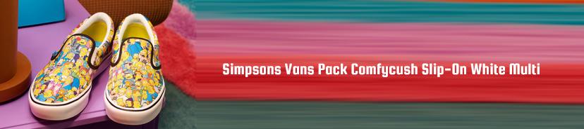 Simpsons Vans Pack Comfycush Slip-On White Multi
