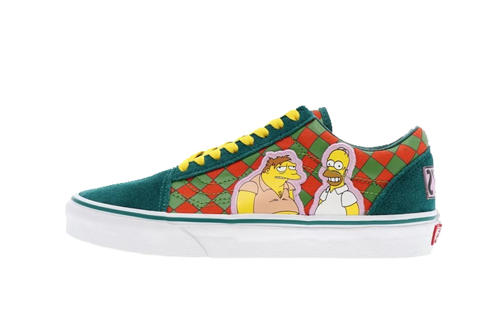 Simpsons Vans Pack MOE'S Old Skool Teal Multi VN0A4BV521L 01