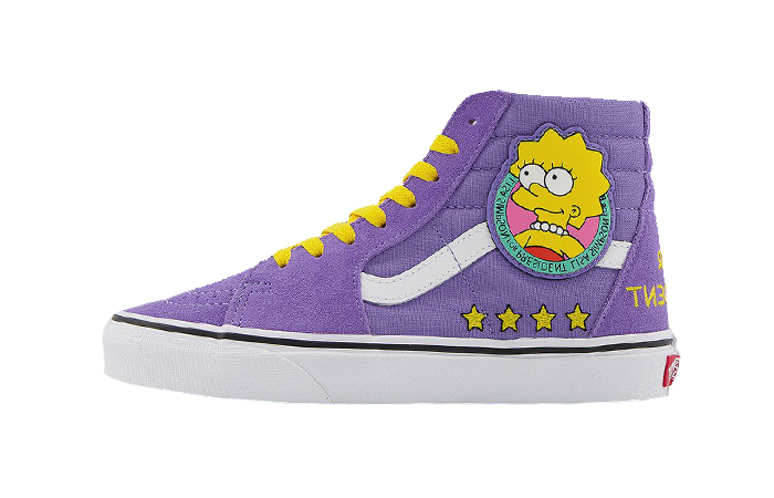 Simpsons Vans Pack Sk8-Hi Liza 4 Prez Purple VN0A4BV617G 01