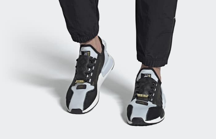 Star Wars adidas NMD R1 V2 Black Metallic Gold FX9300 on foot 01