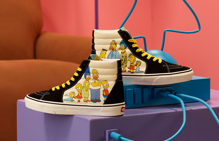 The Famous Television Series Simpsons Characters Can Be Seen In The Upcoming Vans! f