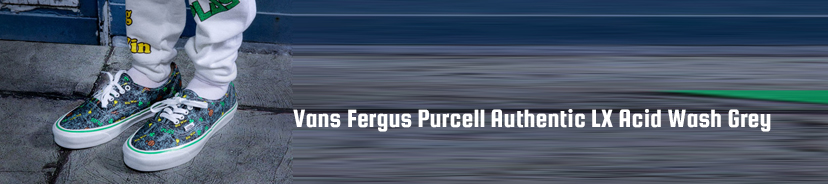 Vans Fergus Purcell Authentic LX Acid Wash Grey