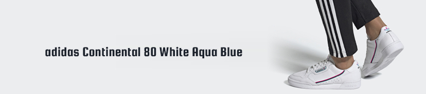 adidas Continental 80 White Aqua Blue