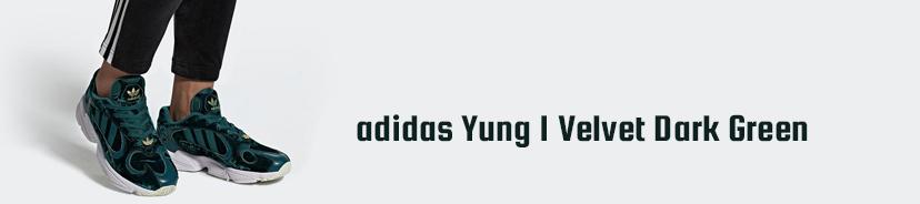 adidas Yung 1 Velvet Dark Green