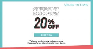 20% Off For Students At Offspring On Full Priced Products!!