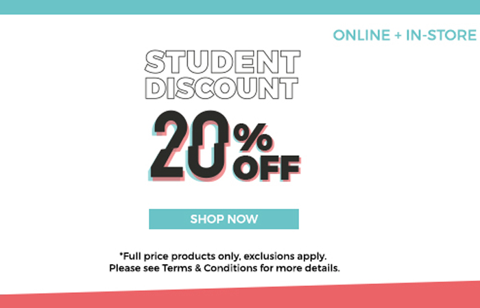 20% Off For Students At Offspring On Full Priced Products!! ft
