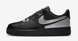 3M And Nike Air Force 1 Low Teamed Up For Another Collaboration In Black And Silver Colourways 01