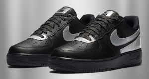 3M And Nike Air Force 1 Low Teamed Up For Another Collaboration In Black And Silver Colourways