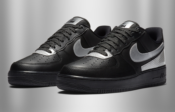3M And Nike Air Force 1 Low Teamed Up For Another Collaboration In Black And Silver Colourways f