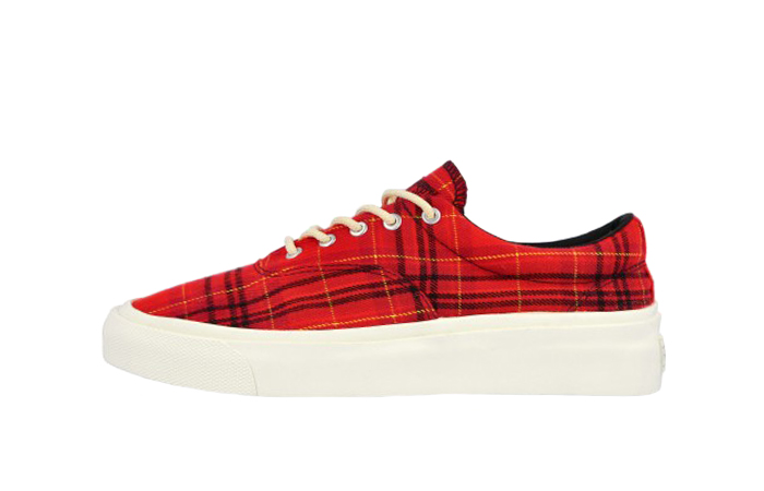 Converse Skidgrip OX Twisted Plaid Red 169219C 01