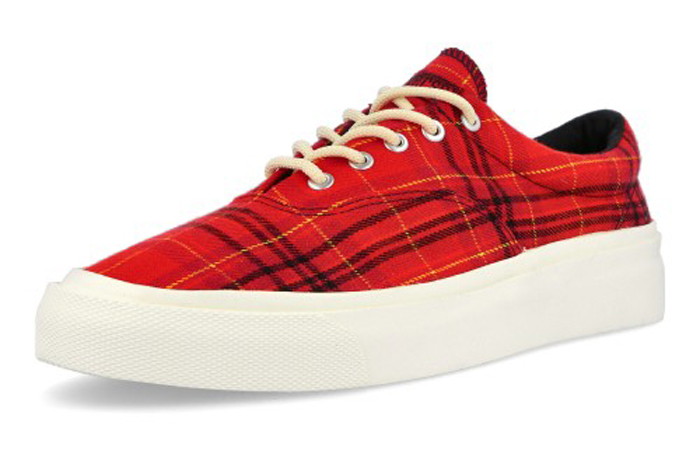 Converse Skidgrip OX Twisted Plaid Red 169219C 02