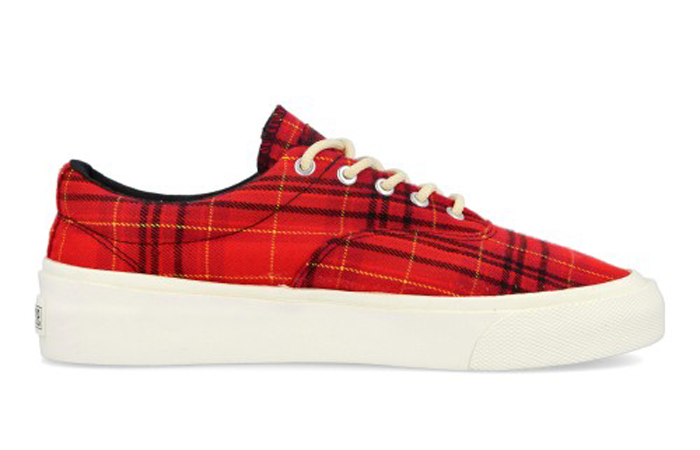 Converse Skidgrip OX Twisted Plaid Red 169219C 03