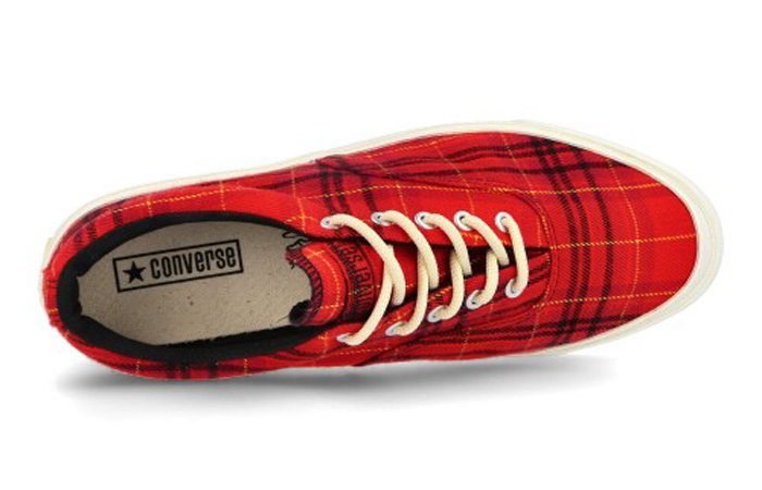 Converse Skidgrip OX Twisted Plaid Red 169219C 04