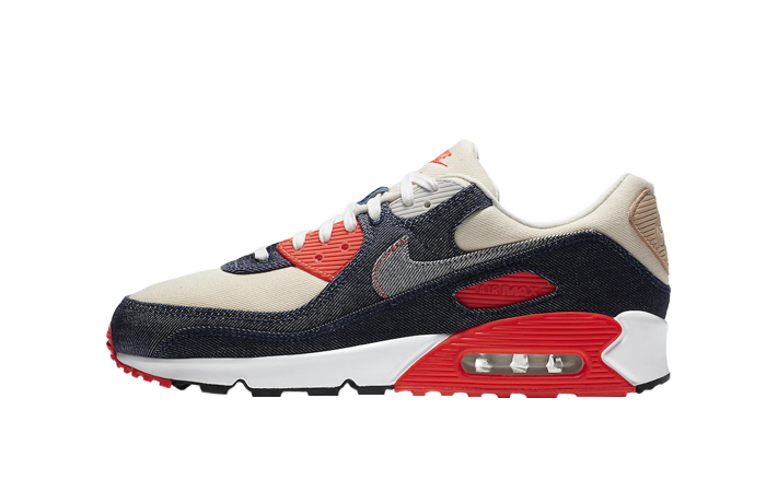 Denham Nike Air Max 90 Infrared CU1646-400 01