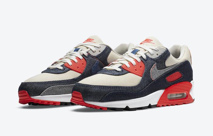 Denham Nike Air Max 90 Infrared CU1646-400 02