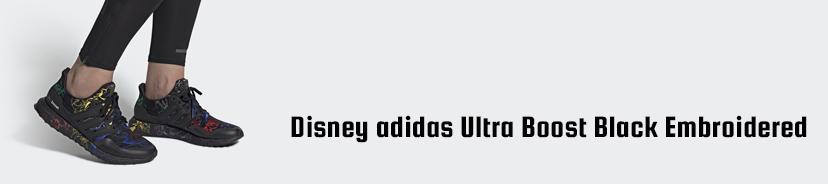 Disney adidas Ultra Boost Black Embroidered