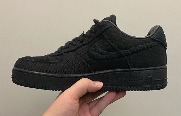 "First Look At The Stüssy Nike Air Force 1 ""Black"" f"
