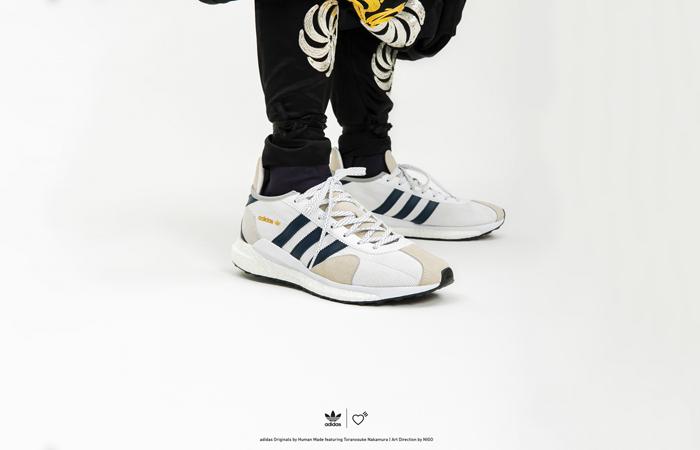 Human Made adidas Tokio White Navy FZ0551 02