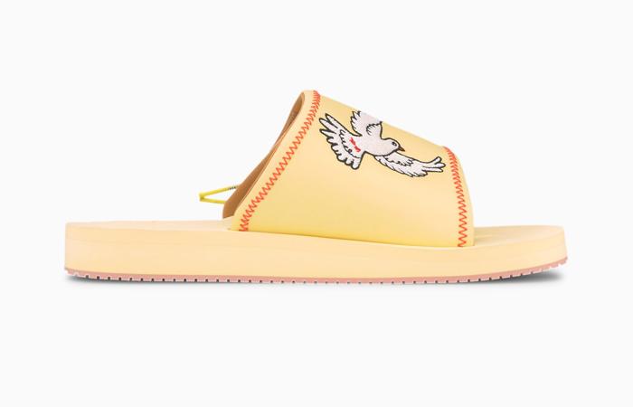 KidSuper PUMA Wilo Slide Yellow Peach 373543-01 03
