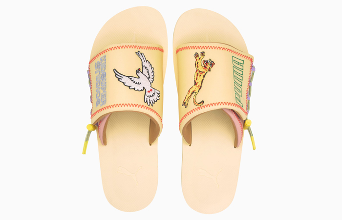 KidSuper PUMA Wilo Slide Yellow Peach 373543-01 04