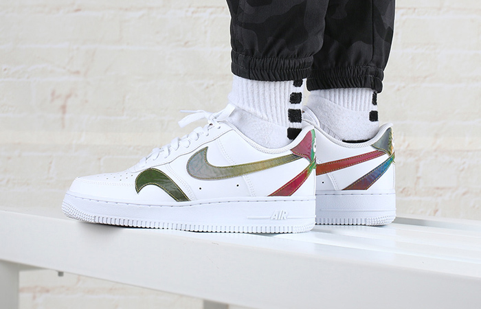 Nike Air Force 1 Misplaced Swoosh Multi CK7214-101 on foot 01