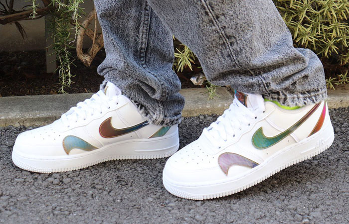 Nike Air Force 1 Misplaced Swoosh Multi CK7214-101 on foot 02