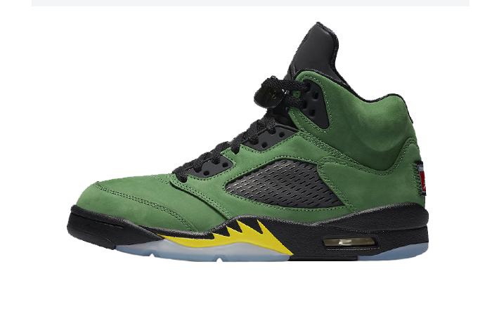 Nike Air Jordan 5 Oregon Green CK6631-307 01