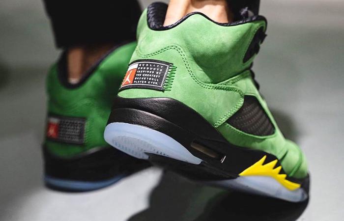 Nike Air Jordan 5 Oregon Green CK6631-307 on foot 03