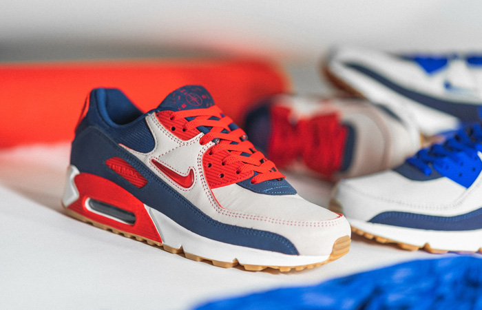Nike Air Max 90 Home and Away Red Royal Blue CJ0611-101 02