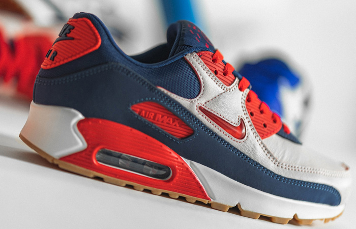 Nike Air Max 90 Home and Away Red Royal Blue CJ0611-101 04
