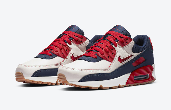 Nike Air Max 90 Home and Away Red Royal Blue CJ0611-101 05