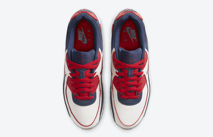 Nike Air Max 90 Home and Away Red Royal Blue CJ0611-101 07
