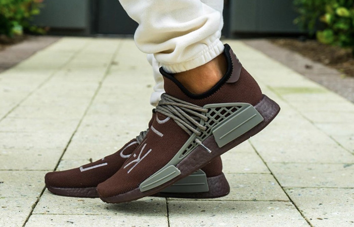 "On-Feet Look At The Pharrell adidas NMD Hu ""Chocolate"" f"