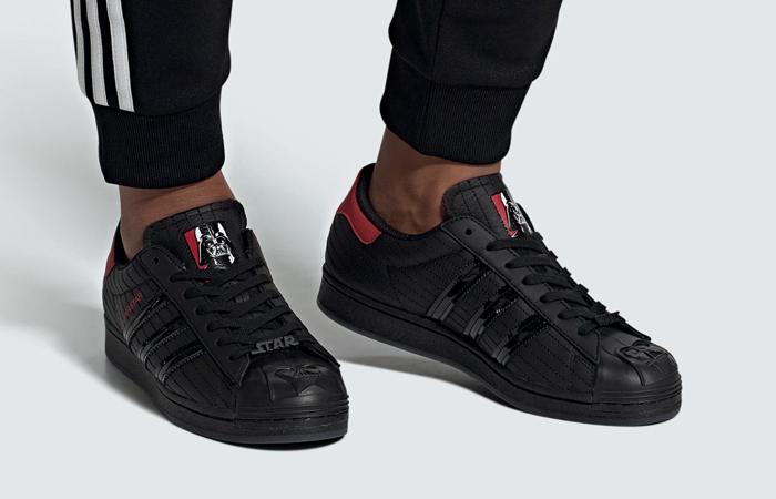 Star Wars adidas Superstar Black Red FX9302 on foot 01