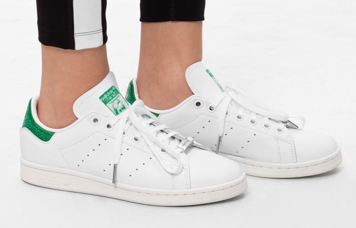 Swarovski adidas Stan Smith White Green