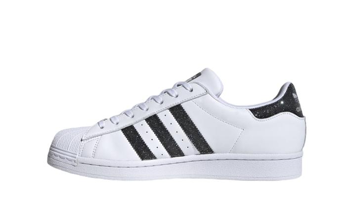 Swarovski adidas Superstar White Black Charcoal FX7480 01