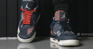 These Are The First On-Foot Snaps Of Air Jordan 4 SE Sashiko 03