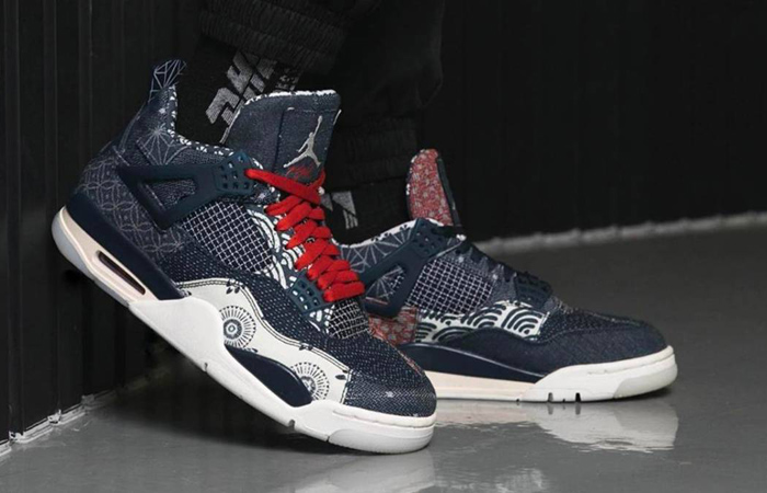 These Are The First On-Foot Snaps Of Air Jordan 4 SE Sashiko f