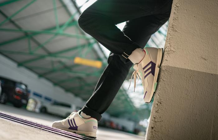 adidas Spezial Hrmny White Purple FX1060 on foot 01