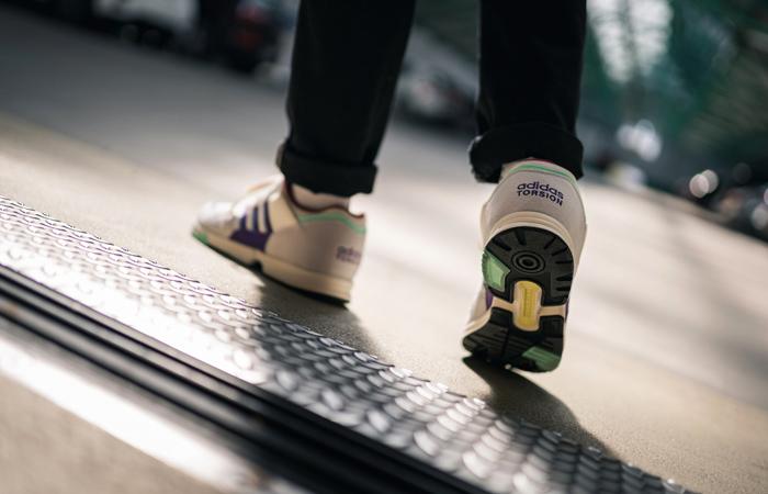adidas Spezial Hrmny White Purple FX1060 on foot 02
